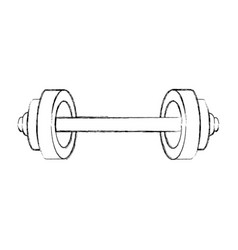 weight lifting isolated icon vector image