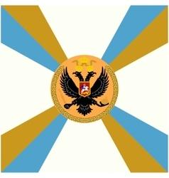 White flag Belozersky Infantry Regiment vector image vector image