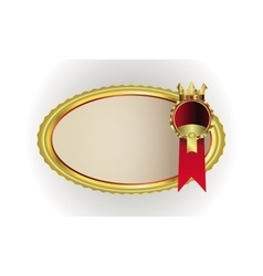 Frame with gold rim and crown vector