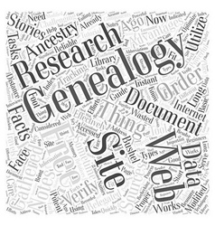 Free genealogy web site word cloud concept vector