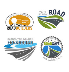Road construction build and repair service icon vector