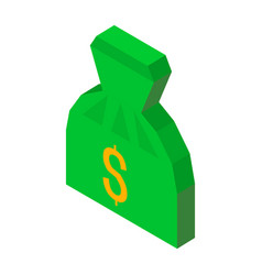 Bag of money 3d icon with dollar sign vector