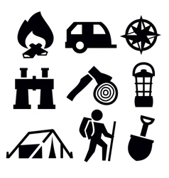 Camping icon vector
