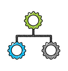 diagram chart organization chart business office vector image