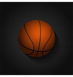 basket ball background on black mesh vector image