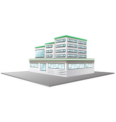 3d design for building in white color vector