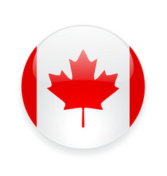 Round icon with flag of canada vector