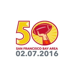 50 pro football championship sunday 2016 vector