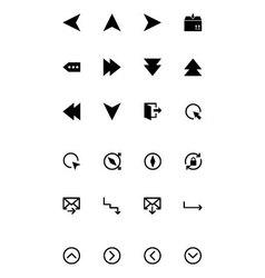 Arrows Icons 11 vector image