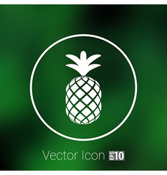 Pineapple closeup cartoon sketch hand drawn vector