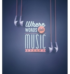 Music speaks vector