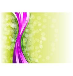 purple vertical wave on the green vector image