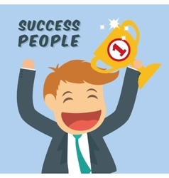 Success people cartoon design vector
