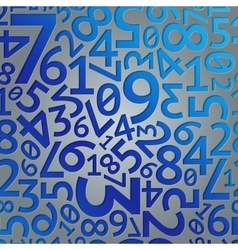 Abstract blue gradient extruded random numbers on vector image