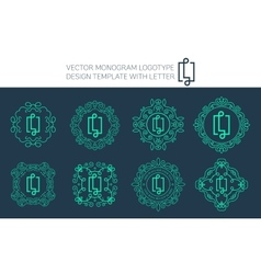 Monogram logo set vector