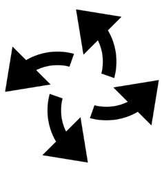 Centrifugal arrows flat icon vector