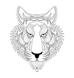 Tiger Zentangle Tiger face vector image