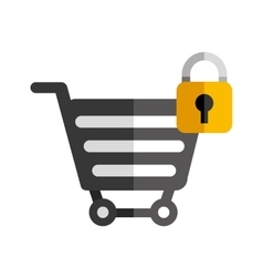 Cart object icon vector