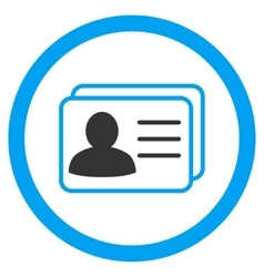 Account cards rounded icon vector