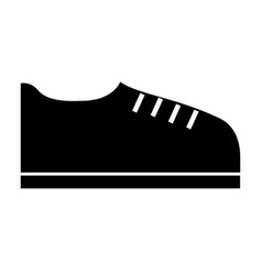 black icon shoe cartoon vector image