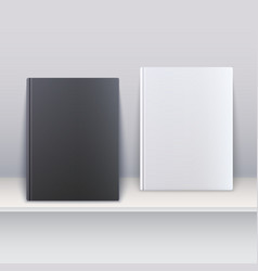 Book cover magazines standing on the shelf vector