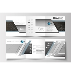 Business templates for tri-fold brochures square vector