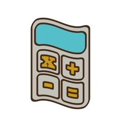 Cartoon calculator finance objetc office vector