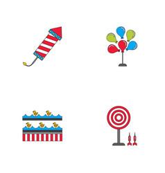 Circus icons collection vector