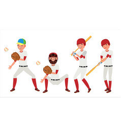 classic baseball player classic uniform vector image vector image