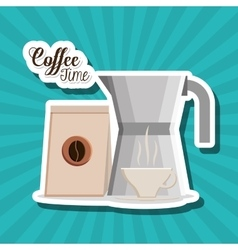 Coffee time design vector image vector image
