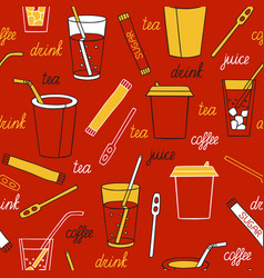 Drinks on a dark background vector