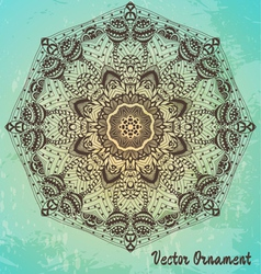Ethnic vintage ornament background vector image vector image