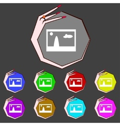 File jpg sign icon download image file symbol set vector
