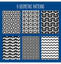 Geometric Background Abstract Seamless Pattern Set vector image