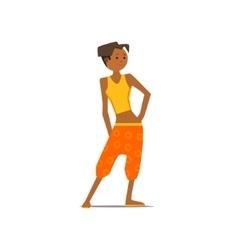 Girl in harem pants vector