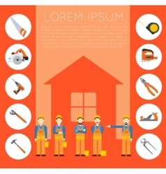 Home improvement banner1 vector image vector image