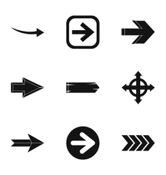 Kind of arrow icons set simple style vector