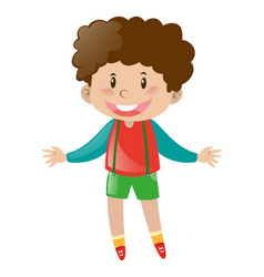 little boy with brown curly hair vector image