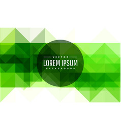 Modern green abstract background vector