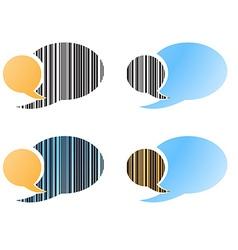 set of blank speech bubbles blue orange black vector image vector image