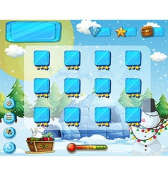 Snow game vector image