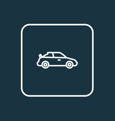 sports auto outline symbol premium quality vector image vector image