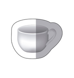 Sticker white cup icon vector