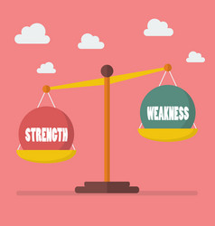 Strength and weakness balance on the scale vector