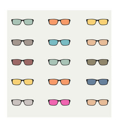 Sun glasses vector