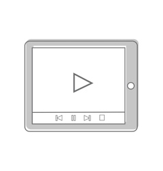 Tablet Isolated on White Video Marketing vector image