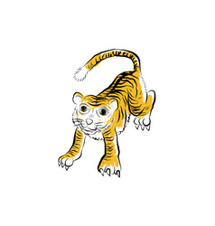 Tigerthai traditional painting tattoo vector