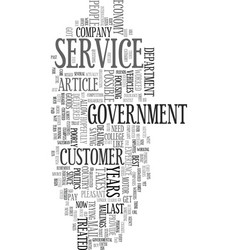 You pay for customer service text word cloud vector
