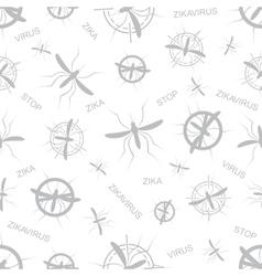 Zika virus seamless pattern aedes aegypti vector