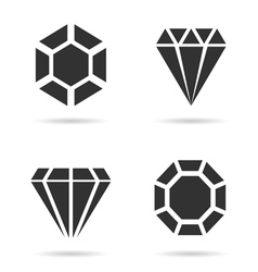 Diamond luxury perfect icon set vector
